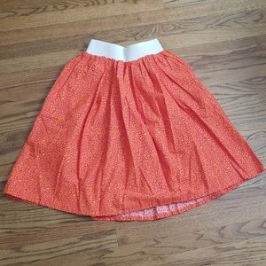 Dresses & Skirts - Orange cheetah full circle skirt elastic waistband